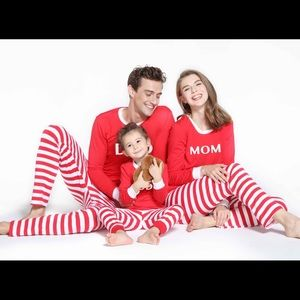 NWT patpat jolly christmas stripe pajamas